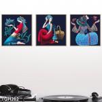Set of 3 Canvas Arts - GIRLS -TGH262