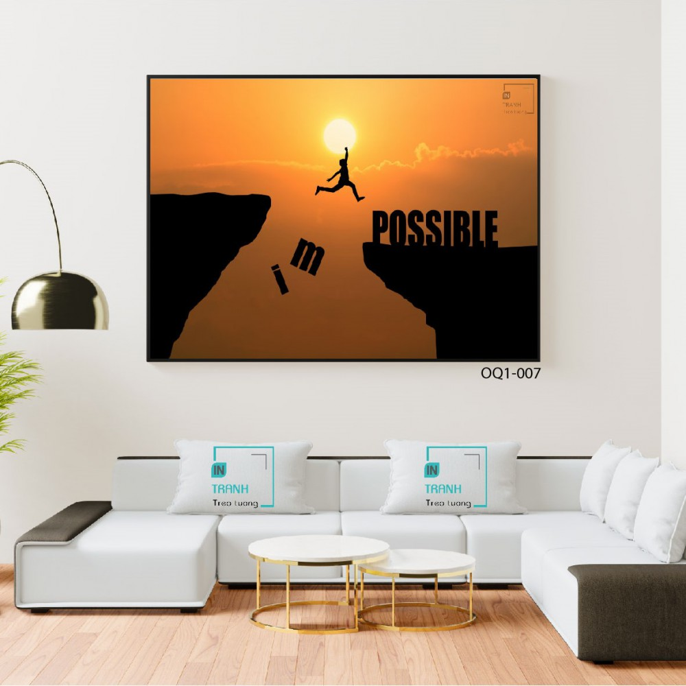 """Quote """"Impossible - Possible"""" - Print-OQ1-007"""